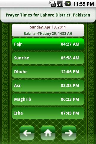 Download Islamic Prayer Times Android Islamic Softwares